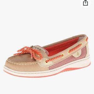 Sherry Top Sider Angel Fish leather boat shoe 9.5